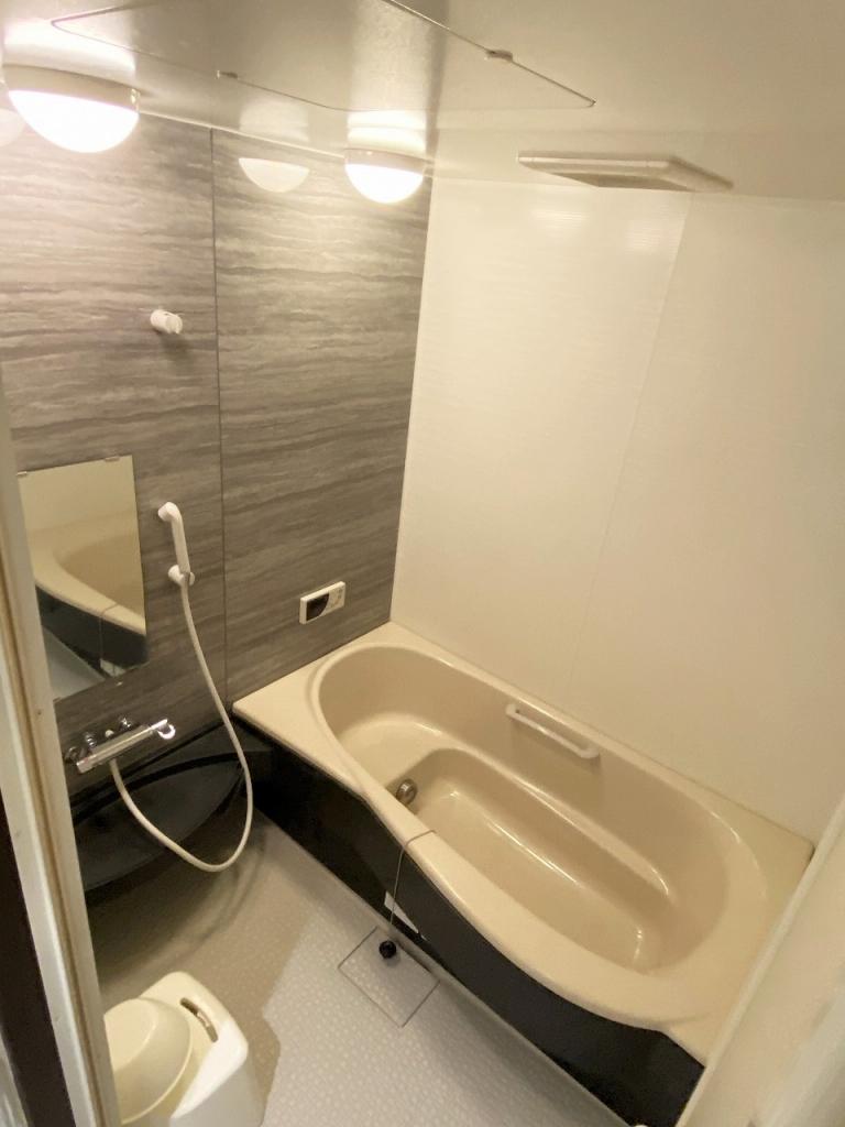 浴室もゆったりはいれる広さ。浴室乾燥はついてません。